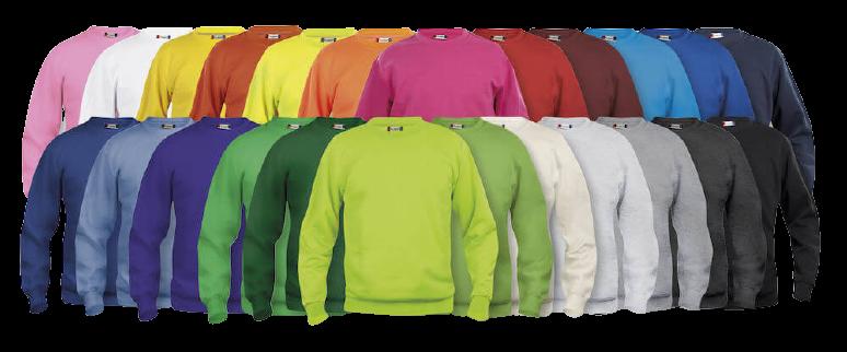 sweat clique col rond couleurs